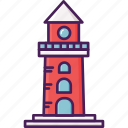 building, coast, lighthouse icon