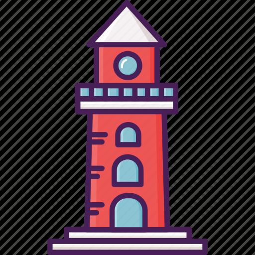 building, coast, lighthouse icon