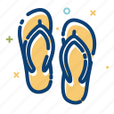 beach, foot, holiday, sea, slipper, summer, travel