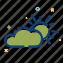 cloud, nature, summer, sun icon