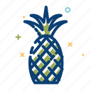 food, fruits, nutrition, pineapple, summer icon