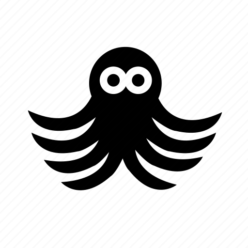 creature, eight legs, fish, octopus, sea icon