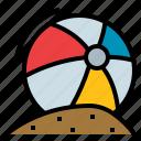 ball, beach, game, play, summer icon