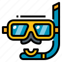 activity, diving, scuba, sea, snorkel icon