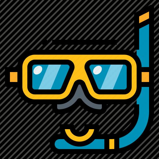 activity, diving, scuba, sea, snorkel icon
