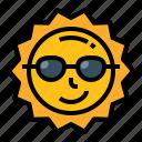 summer, sun, sunglasses, sunlight, weather icon