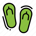 beach, flip, flops, footwear, sandals icon