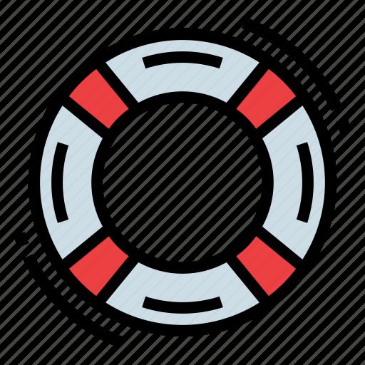 help, lifebuoy, lifeguard, safety icon