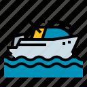 boat, motor, speedboat, transport, transportation icon