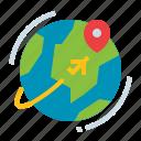 earth, global, planet, travel