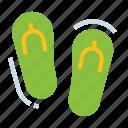 beach, flip, flops, footwear, sandals icon