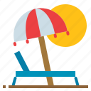 beach, holiday, relaxing, summer icon