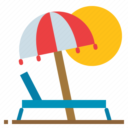 Beach, holiday, relaxing, summer icon - Download on Iconfinder