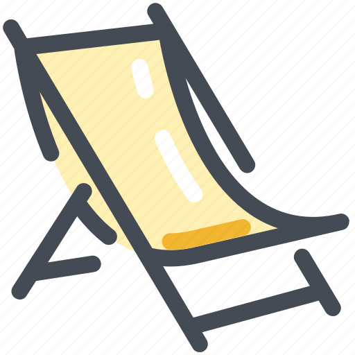 beach, chair, deck, summer icon