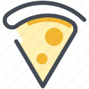 food, italian, meal, pizza, slice, snack icon