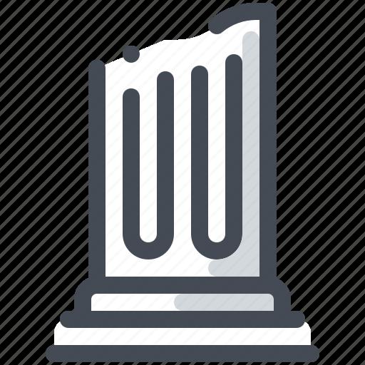architecture, atichnost, column, travel icon