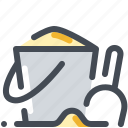 beach, bucket, sand, scoop, shovel, summer icon
