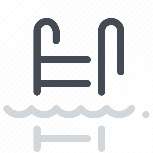beach, pool, sea, stairs, summer, swimming, water icon