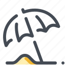 beach, protection, sand, sun, umbrella icon