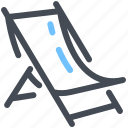 beach, chair, deck, summer icon