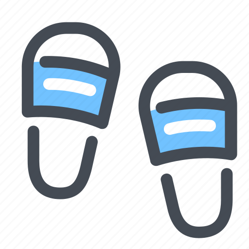 beach, shoes, slippers, sneakers, summer icon