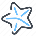 beach, starfish icon