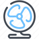 cooler, fan, table icon
