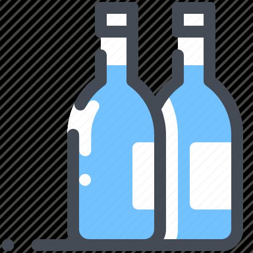 beer, bottle, drink, lemonade, soda, wine icon