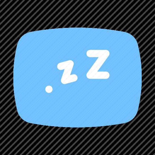 happiness, pillow, sleep, vacation icon