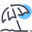 beach, protection, sand, sun, umbrella