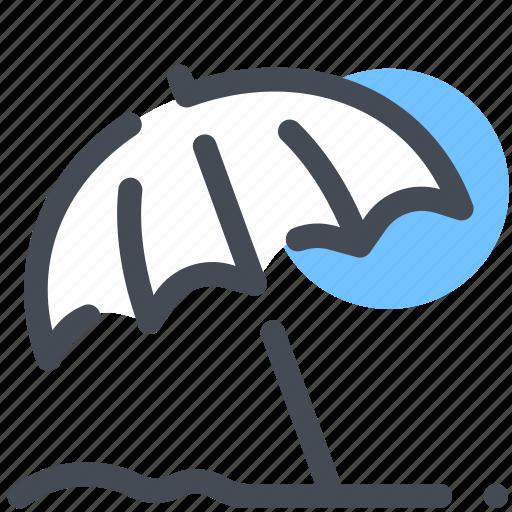 beach, protection, sand, sun, umbrella icon