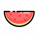 food, fruit, slice, summer, watermelon icon