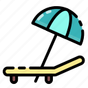 relax, summer, umbrella, vacation icon