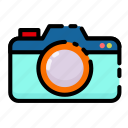 camera, photography, summer, vacation icon