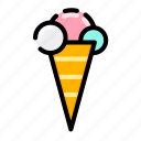cold, ice cream, summer icon