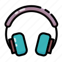 earphone, headphone, headset, summer icon