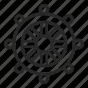 boat, control, sea, ship, summer, travel, wheel