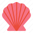 beach, clam, nature, seashell, summer icon