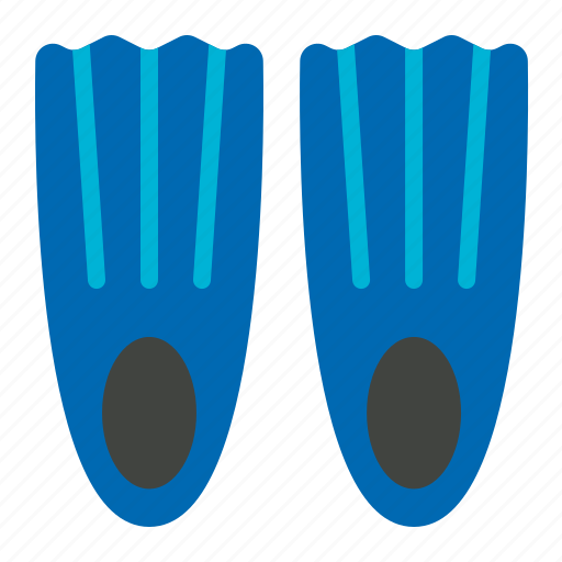 fin, pool, summer, swimming, swimming fin, tools icon