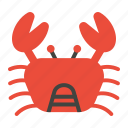 animal, beach, crab, food, sea, summer icon
