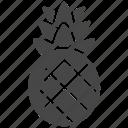 fruit, pineapple, summer icon
