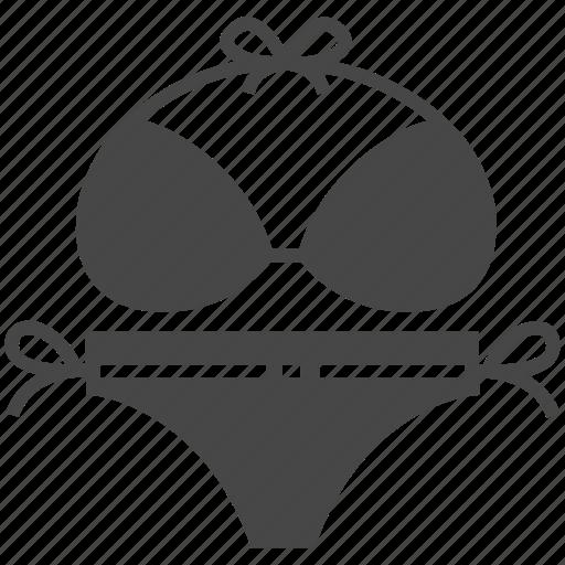 bikini, summer, woman icon