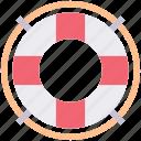 boat, life, ocean, preserver, safety, ship icon