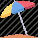 beach, holiday, parasol, summer, travel, vacation icon