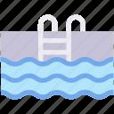 facilities, ladder, pool, swim, swimming, water icon
