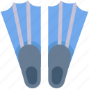 diving, equipment, flippers, sport, swim, swimming icon