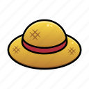 hat, holiday, straw, summer, sunny day, travel, vacation icon