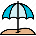 beach, holiday, sea, summer, tourism, umbrella, vacation icon