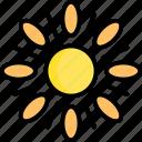 sun, hot, summer, weather, season, planet, space