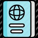 passport, travel, book, document, holiday, vacation